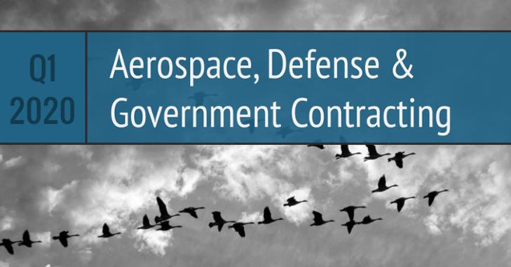 Q1 2020 Aerospace Defense Government