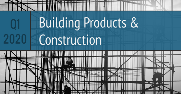 Q1 2020 Building Products Construction
