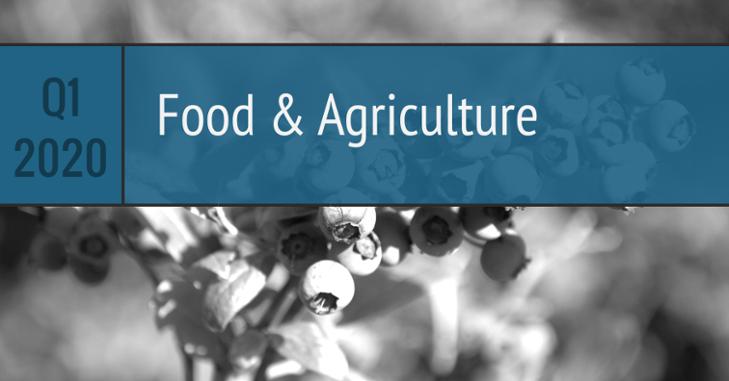 Q1 2020 Food Agriculture