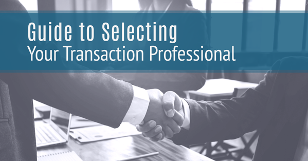 Guide to Selecting Your Transaction Professional