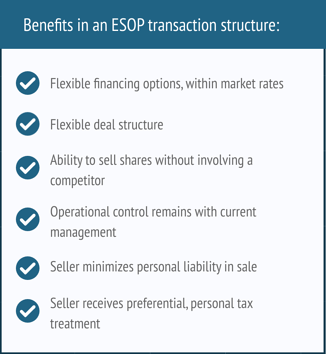 Benefits in an ESOP transaction structure