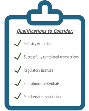 Qualifications to consider when selecting an Investment Bank