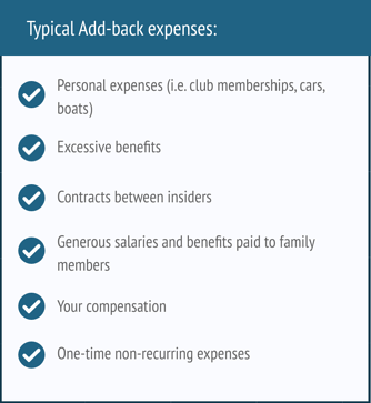 Add-back expenses